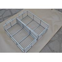 China 304 316 316L Stainless Steel Metal Wire Basket With Polishing Food Grade wholesale
