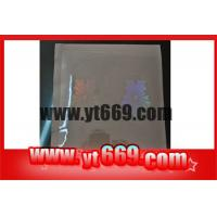 China Custom PVC Card Transparent 3D Hologram Stickers Overlay wholesale