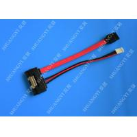 China Anti - Static Shielded SATA HDD Power Cable Male To Male Extension Lightweight wholesale