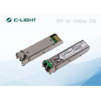 China 80km SMF Transceiver for SFP Modules , EX-SFP-1GE-LH 1.25Gbps wholesale