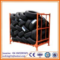 China Stacking metal storage tire rack, folding tyre racking china supplier wholesale