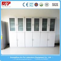 China Steel Reagent Cabinet Two Story Anti - Corrosion For School Use wholesale