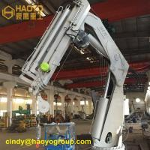 China Foldable Hydraulic Marine Boom Offshore Crane Marine Ship Crane on sale