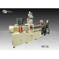 China Laboratory Mini Plastic Extrusion Machine Reinforcing Or Compounding 35mm Screw Diamater wholesale