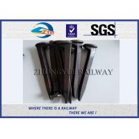 China Plain Finished Q235 Railroad Track Spikes Rail Screw Dog Spike For Rail Fastening System wholesale