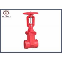 China Groove End Rising Stem Gate Valve , Stainless Steel Gate Valve For Water Pipelines wholesale