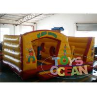 China Yellow Inflatable Bounce House Inflatable Jumping Castle EN14960 wholesale