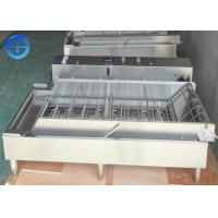 China Automatic Continuous Fryer Machine , Four Row Stainless Steel Donut Fryer Machine wholesale