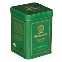 Buy cheap Double - Lid Green Tea Tin Canisters Square Shape And Clear Vanished Inside from wholesalers