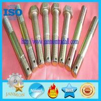 China Bolt with hole, Bolt with Hole in Head ,Hex head bolts with holes,Hex bolts with holes,Yellow zinc hex bolt with hole wholesale