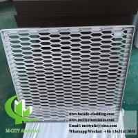 Quality Aluminum expanded panel mesh screen for facade both powder coated for sale