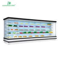 Buy cheap Factory price supermarket fruit vegetable multi-deck open display chiller from wholesalers
