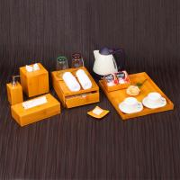 China Free sample 5-star luxury hotel bamboo finished acrylic bathroom supplies shenzhen on sale