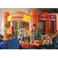 China Orange Inflatable Boucner House Jumping Area Tent For Kids And Adults wholesale