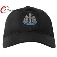 Quality Black Crest Cotton Baseball Cap with Nufc Embroidery Patch for Adults/ Sports Cap for sale
