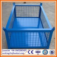 Wholesale Collapsible Wire Mesh Basket, Steel Cage Bins, Welded Metal Stillage from china suppliers