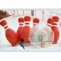 China Sport Outdoor Inflatable Games Human Bubble Bowling 6 PCS Bottle With Zorb Ball wholesale