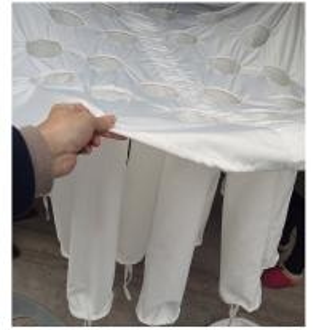 China Fluidized Bed Spirulina Powder Granulator Bag / Spirulina Powder Spray Drying Bag wholesale
