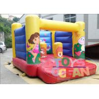 China Yellow Indoor Playground With Bouncy Castle / Mini Jumping Castles For Rent wholesale