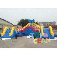 China Kids Funny Park Games Elephant Shaped Inflatable Water Slide With Pool OEM / ODM wholesale