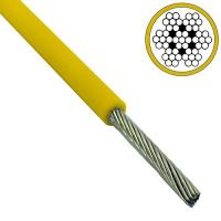 China Colored 2.5mm - 3.5mm Galvanized Steel Wire Rope 7x7 Yellow Pvc Coated wholesale