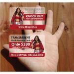 China Transparent name card wholesale
