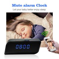 China Mini Hidden Spy Camera Wireless Alarm Clock, New Night Vision 1080P P2P IP CCTV Camera Mini Wifi Clock Security Camera on sale