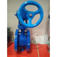 China Worm Gear Double Flanged Ductile Iron Eccentric Butterfly Valve wholesale