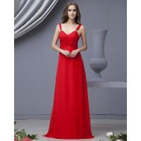 China Graceful Red Strapless long party dresses with flower for Summer , Spring wholesale