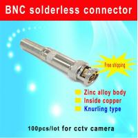 China DIY BNC solderless connector Knurling type BNC Connector for cctv camera accessory bnc with screw wholesale