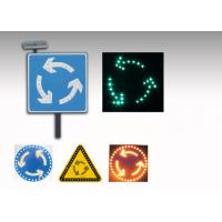 Quality 5V 3W LED Solar Traffic Signs , Solar Powered Roundabout Warning Sign for sale