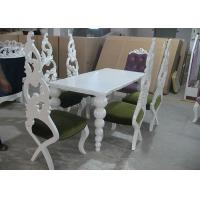 China Restaurant Elegant White Wooden Modern Dining Room Tables And Chairs (180 cm) on sale