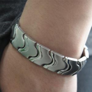 China Fashion negative ion energy bracelet, titanium germanium energy bracelet on sale