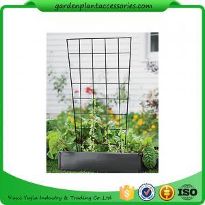 "China Sturdy Metal Vegetable Garden Trellis , Garden Green Bean Trellis 56"" trellis is 47-1/2"" H installed; 30"" W at the top a wholesale"