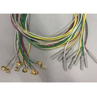 China Golden Plated Electrodes EEG Cables 1.2m / 1.5m Length TPU Cable Material wholesale