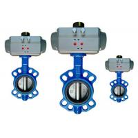 China Flange / Wafer Type Butterfly Valve Actuator Pneumatic Operated DN40 ~ DN600 wholesale