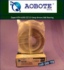 Quality Single Row NTN Ball Bearings Japan For Pharmaceutical , NTN 6303ZZ C3 for sale