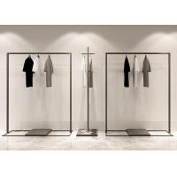 Iron Powder Coated Matt Black Garment Display Stands / Clothes Display Hanger Stand