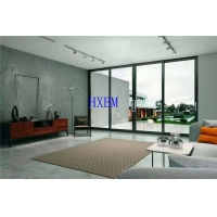 China Hurricane rated AS2047 standard black color aluminum sliding doors With security screen on sale