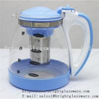 China Stocked, Eco-Friendly Feature and Glass tea pot with filter wholesale