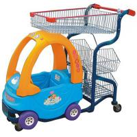 China Commercial Cute Kids Play Shopping Trolley Zinc Plated With Baby Car on sale