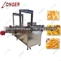 China Automatic Continuous Potato Chips Frying Machine|Pork Rinds Fryer Machine on sale