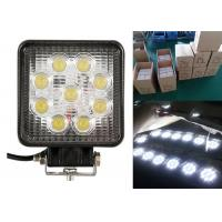 China 27W Square Vehicle LED Work Lights For Off Road 4.5 Inch With 9LED wholesale