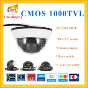 "Quality 1000TVL1/3"" Color CMOS camera DIS CHIP with IR-CUT plastic security Camera 3axis for sale"