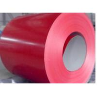 China Red Prepainted Steel Coil For corrugated plate, G550 0.12-0.2mm Overthin Sheet Metal Coil on sale