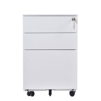 Quality 60kgs Loading Capacity White Mobile Pedestal for sale