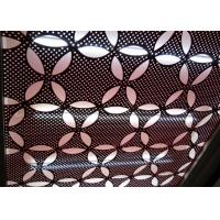 Quality 1/8'' or 3 mm Thick Project Gallery PVDF Coating Perforated Aluminum Facade for sale