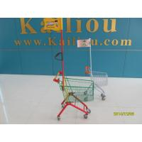 Q195 Low Carbon Steel Kids Shopping Carts With Colored powder Coating and with a flag and logo