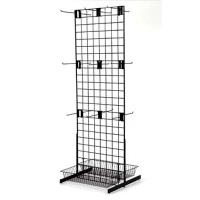"""China Adjustable two sided Galvanized Wire Metal floor Display Racks L 24"""" W 25"""" H 66"""" wholesale"""