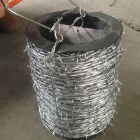China Normal Twisted Electric Galvanized Barbed Wire Security Barbed Wire Fencing In Bucket on sale